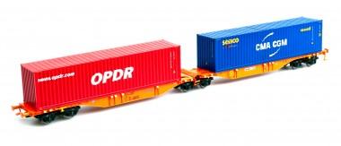 Mehano 58960 Wascosa Containerwagen Sggmrss'90 Ep.6