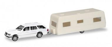 Herpa 013413 Minikit MB E-Klasse T-Modell m.Wohnwagen