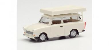 Herpa 024181-002 Trabant 601 Universal mit Dachzelt weiß