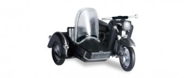 Herpa 053433-004 MZ 250 mit Beiwagen schwarz