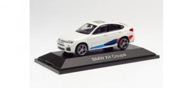 Herpa 071635 BMW X4 weiß Performance Tuning