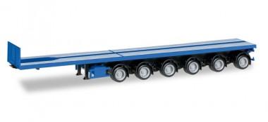 Herpa 076715-002 Nooteboom Ballasttrailer (6a) enzianblau