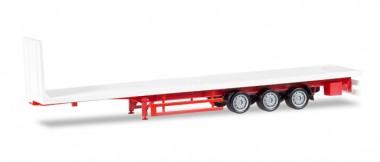 Herpa 076845 Lowliner-Flachbett-Auflieger 3a weiß