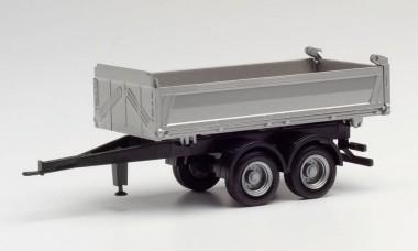 Herpa 076975 Tandem-Baukipper-Anhänger Meiller,silber