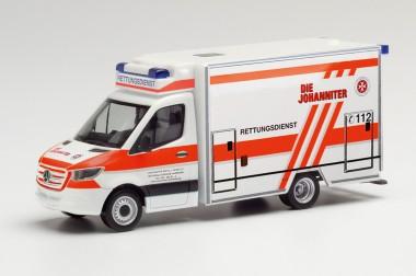 Herpa 095662 MB Sprinter Fahrtec-RTW Die Johaniter HH