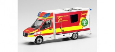 Herpa 095921 MB Sprinter 18 Fahrtec RTW FW Bocholt