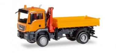 Herpa 308267 MAN TGS M E6c Dreiseitenkipper orange