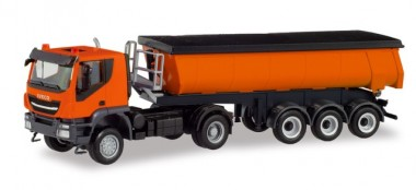 Herpa 311373 Iveco Trakker Thermomulden-SZ orange
