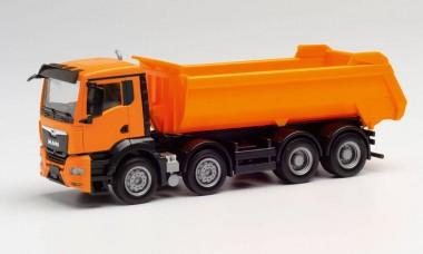 Herpa 312417 MAN TGX NN Rundmulden-Lkw orange