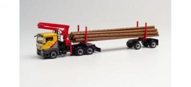 Herpa 312998 MAN TGX L Langholz-SZ Mengel Holz