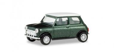 Herpa 430753 Mini Cooper mit Zusatzscheinwerfern grün