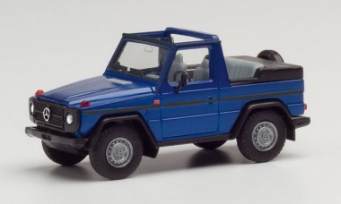 Herpa 430845 MB G-Modell Cabrio hellblau-met.