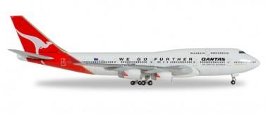 Herpa 500609-001 Boeing 747-400 Qantas - 25 Years Wings