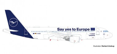 Herpa 533614 Airbus A320 LH Lufthansa Say Yes to Eur.