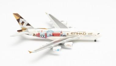 Herpa 535007 Airbus A380 Etihad Airways United Kingdo