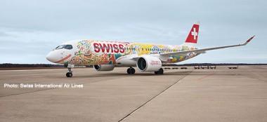 Herpa 559935 Airbus A220-300 Swiss International