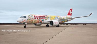 Herpa 562713 Airbus A220-300 Swiss International
