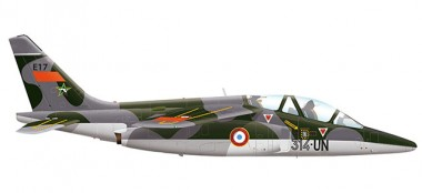 Herpa 580458 Dassault Alpha Jet E French Air Force