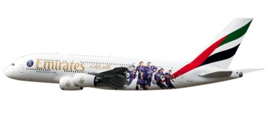 Herpa 611152 Airbus A380 Emirates Paris St. Germain