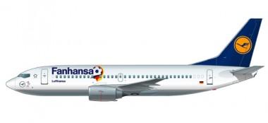"""Herpa 611220 Boeing 737-300 Lufthansa """"Fanhansa"""""""
