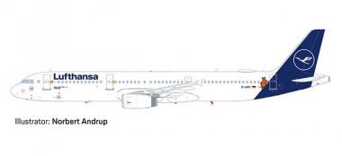 Herpa 612432 Airbus A321 LH Lufthansa/Die Maus