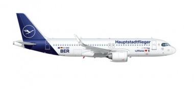 Herpa 613156 Airbus A320neo LH Hauptstadtflieger