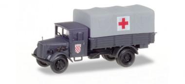 Herpa 746076 Opel Blitz Sanitäts-LKW Kroatiens