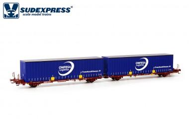 Sudexpress SUTF47117 Transfesa Containerwagen 4-achs Ep.5