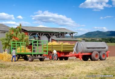 Kibri 10908 Landwirtschaftliches Anhänger-Set 3-tlg
