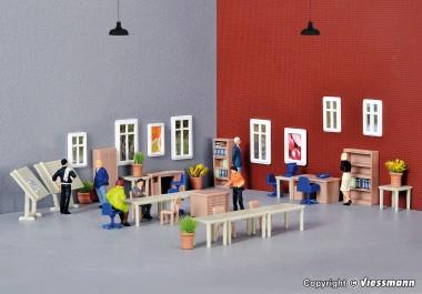 kibri 38655 deko set m bel f r technisches b ro menzels lokschuppen onlineshop. Black Bedroom Furniture Sets. Home Design Ideas