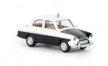 Brekina 27720 DAF 600 weiß/schwarz Politie (NL)