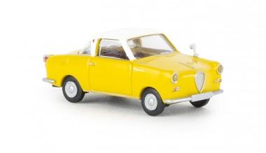 Brekina 27853 Goggomobil Coupe gelb/weiß