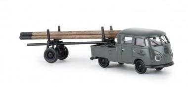 Brekina 32831 VW T1/2b DoKa m.Nachläufer Post