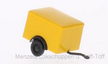 Brekina 55914 Kasten-Anhänger 1a gelb
