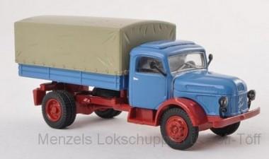 Brekina 58036 Steyr 380/I Pritsche/Pl.  brillantblau/r