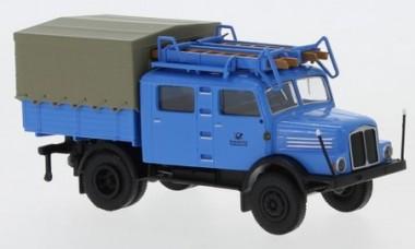 Brekina 71757 IFA S4000-1 Bautrupp Deutsche Post blau