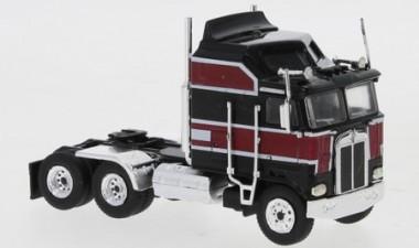 Brekina 85726 Kenworth K100 Aerodyne schwarz/rot