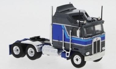 Brekina 85727 Kenworth K100 Aerodyne grau-met./blau