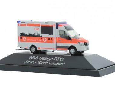 Rietze 72046 MB Sprinter WAS-RTW DRK Stadt Emden
