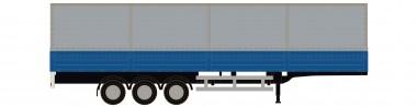 Lemke Minis 4063 Sattelauflieger Pritsche/Pl. blau