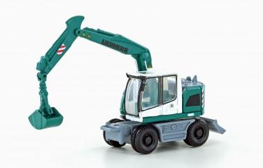 Lemke Minis 4256 Liebherr Compact Bagger grün/weiß