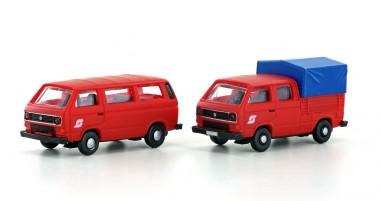 Lemke Minis 4331 VW T3 ÖBB Bus + DoKa Plane 2er Set