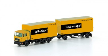 Lemke Minis 4603 MAN F90 Koffer-Hänger-HZ Deutsche Post