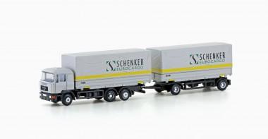 Lemke Minis 4633 MAN F90 Wechsel-Pritschen-HZ Schenker