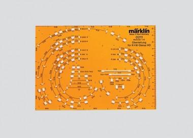 Märklin 0211 Oberleitungs Zeichenschablone