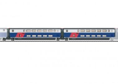 Märklin 43423 SNCF TGV Euroduplex Erg.wg.-Set 1 Ep.6