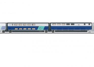 Märklin 43443 SNCF TGV Euroduplex Erg.wg.-Set 3 Ep.6