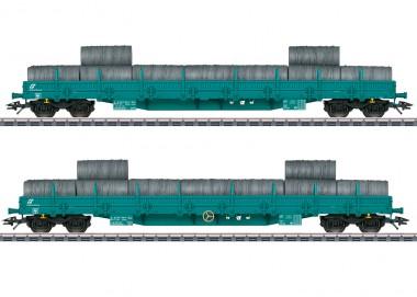 Märklin 47107 FS Niederbordwagen-Set 2-tlg Ep.6