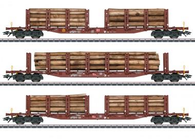 Märklin 47146 DBAG Rungenwagen-Set 3-tlg Ep.6