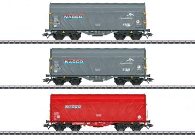 Märklin 47224 Nacco Schiebeplanenwagen-Set 3-tlg Ep.6